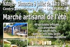 Marché artisanal de l'été au Centre des Métiers d'Art LA SPIRALE - NATOYE (Belgique)