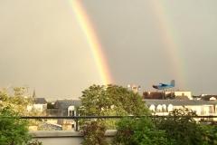 Terrasse et arc-en-ciel