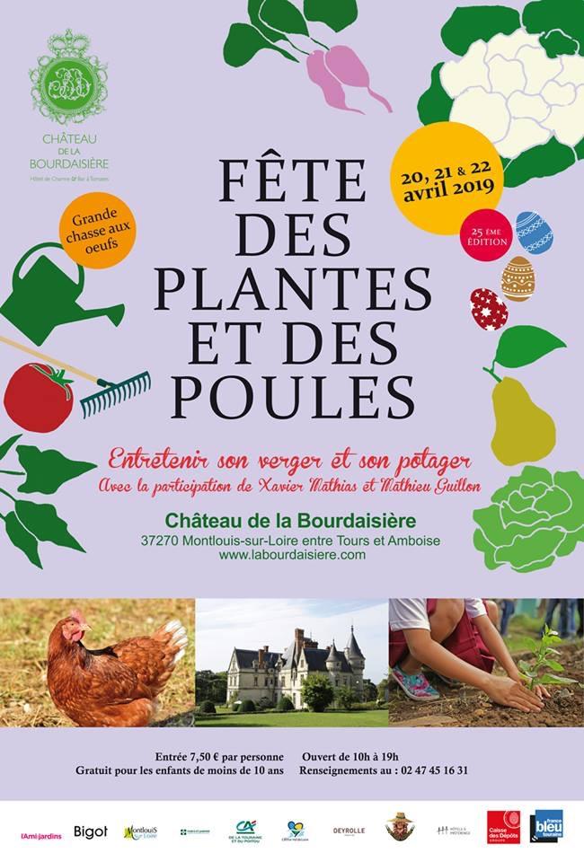 Fête des plantes et des poules - Château de la Bourdaisière à MONTLOUIS-SUR-LOIRE