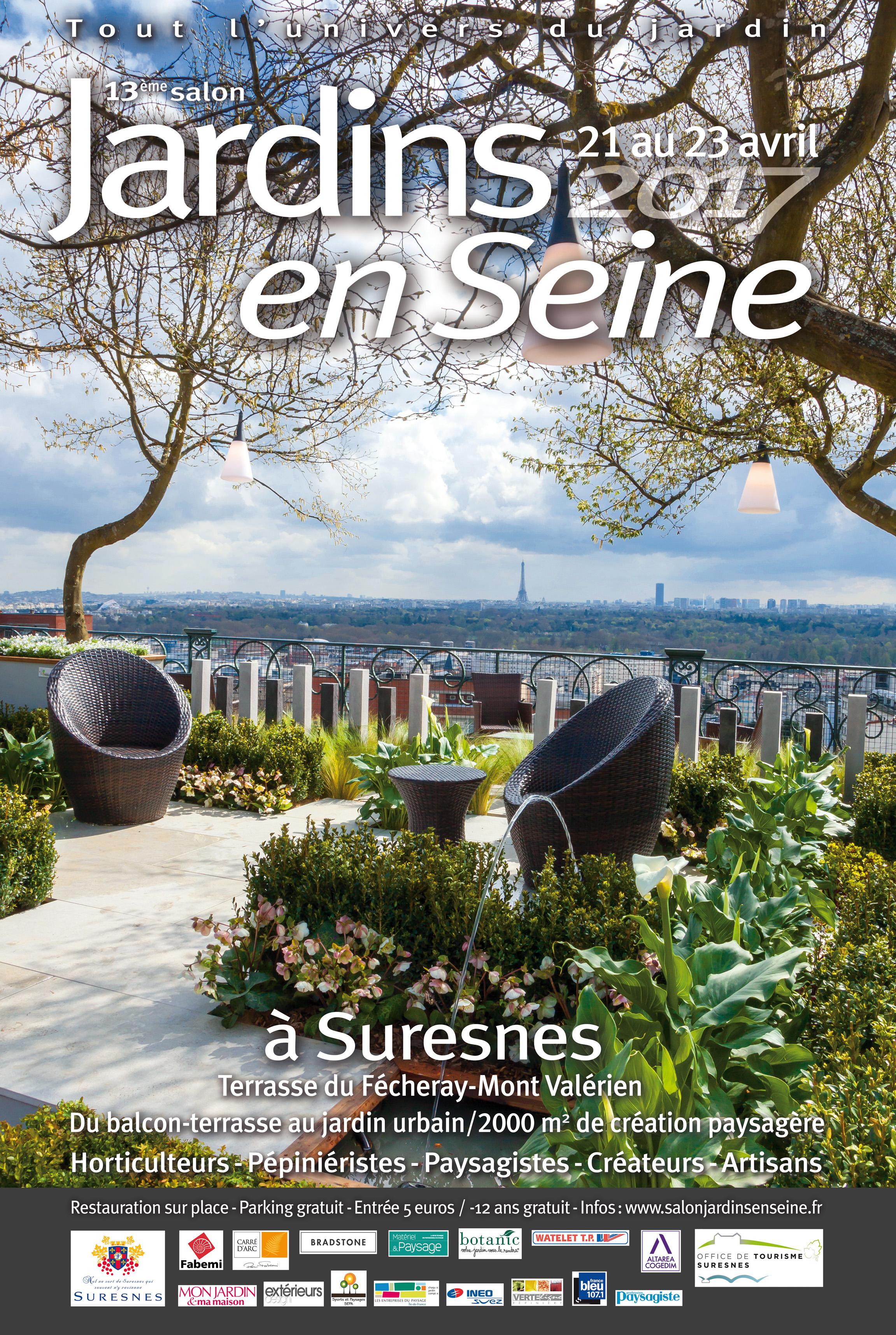Jardins en Seine 2017 - Terrasses du Fécheray au pied du Mont-Valérien - SURESNES